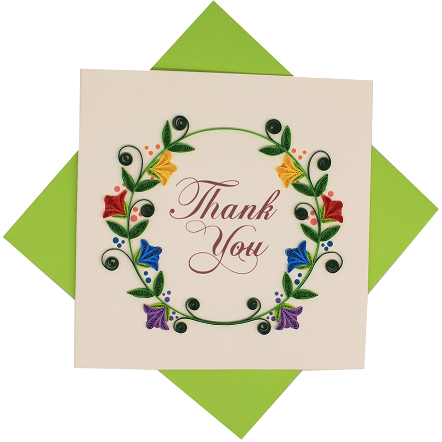 Quilled Thank You Cards