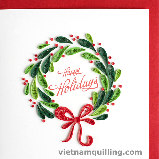 Quilling Christmas Card Vietnam Quilling Greeting Cards Manufacturer