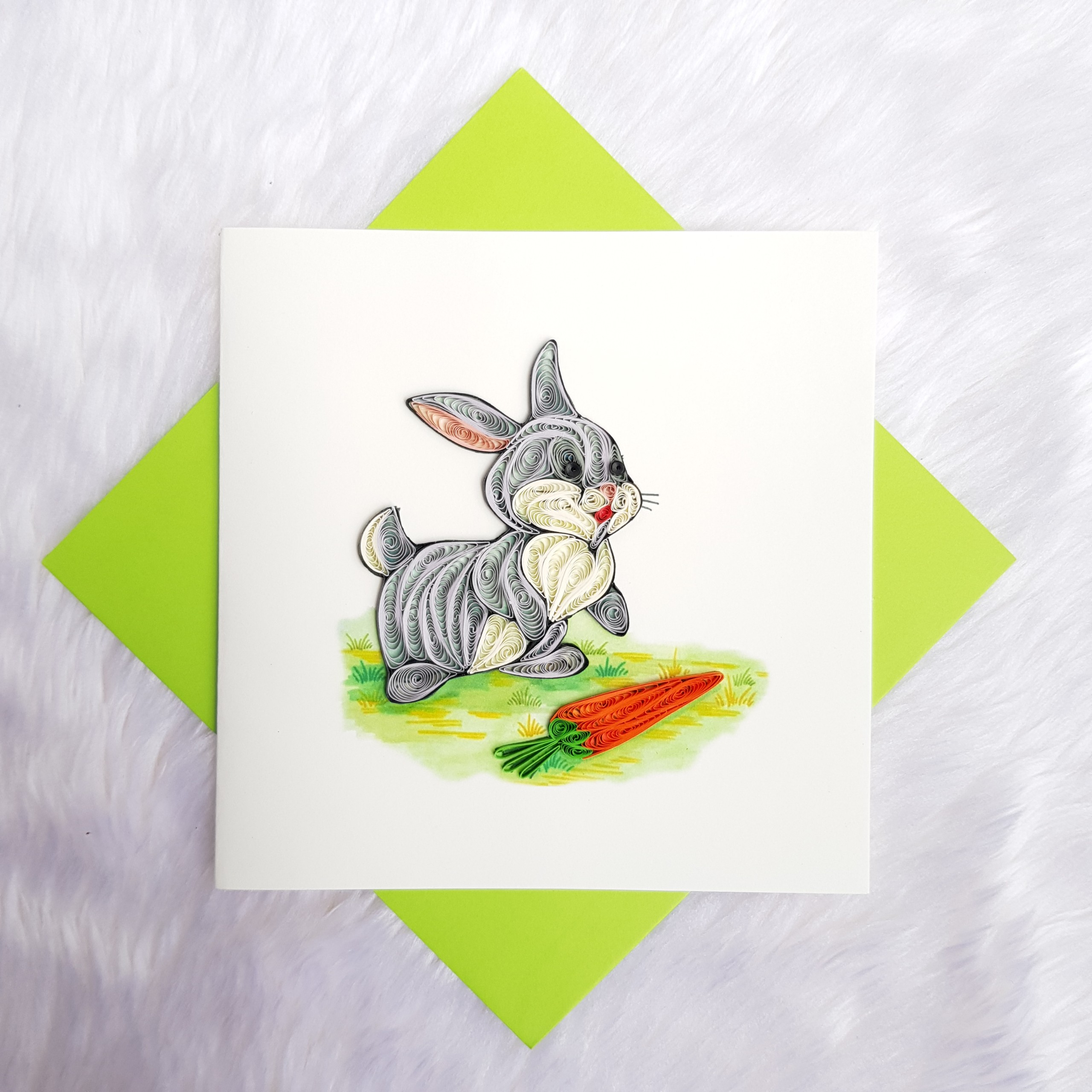 Quilling Animal Card 08