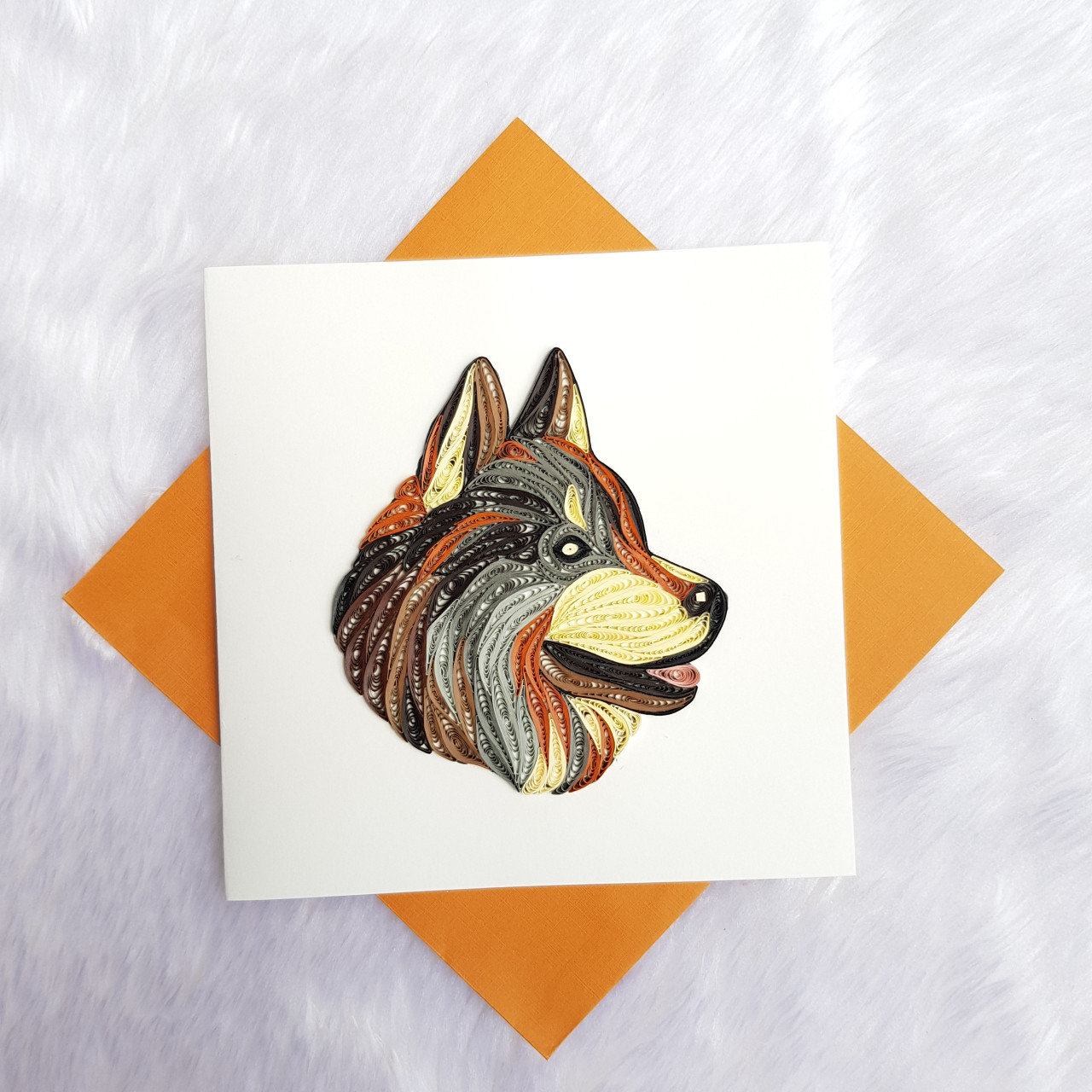 Quilling Animal Card 10