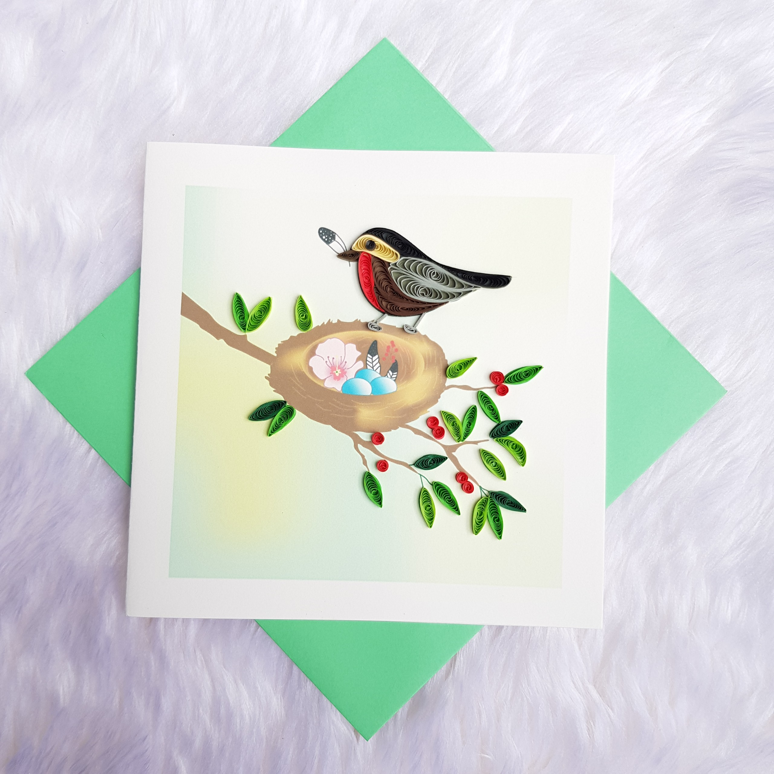 Quilling Animal Card 11