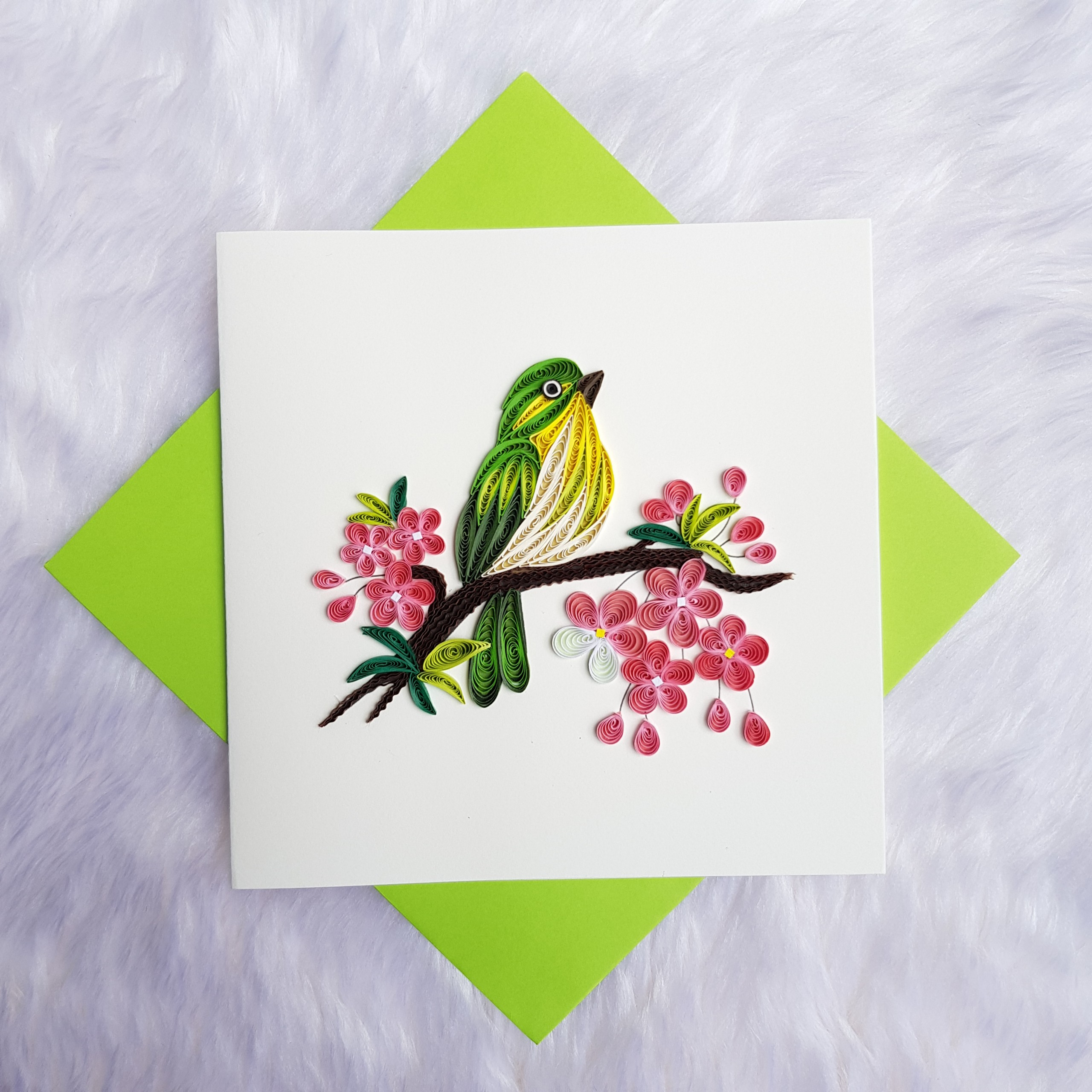 Quilling Animal Card 12