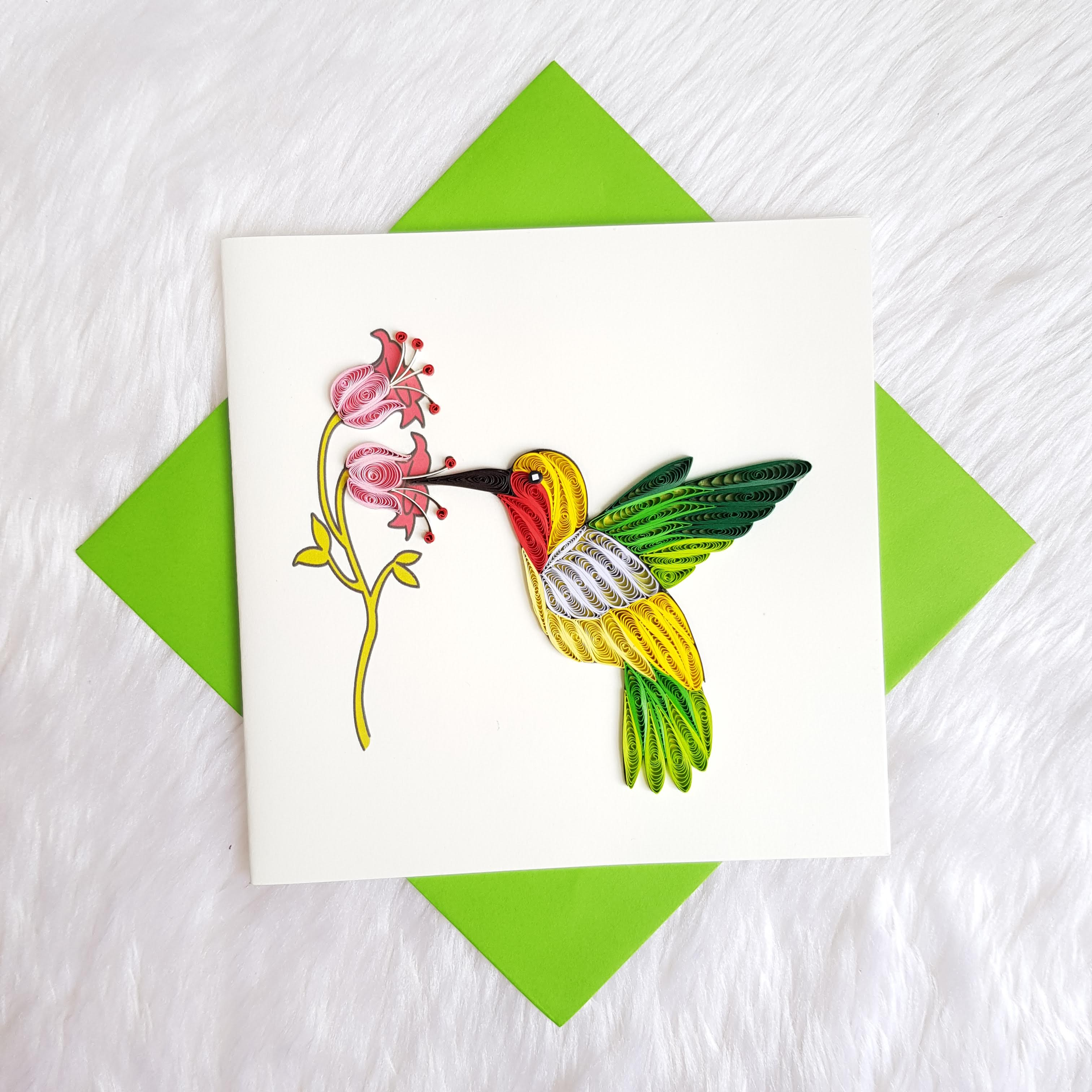 Quilling Animal Card 03