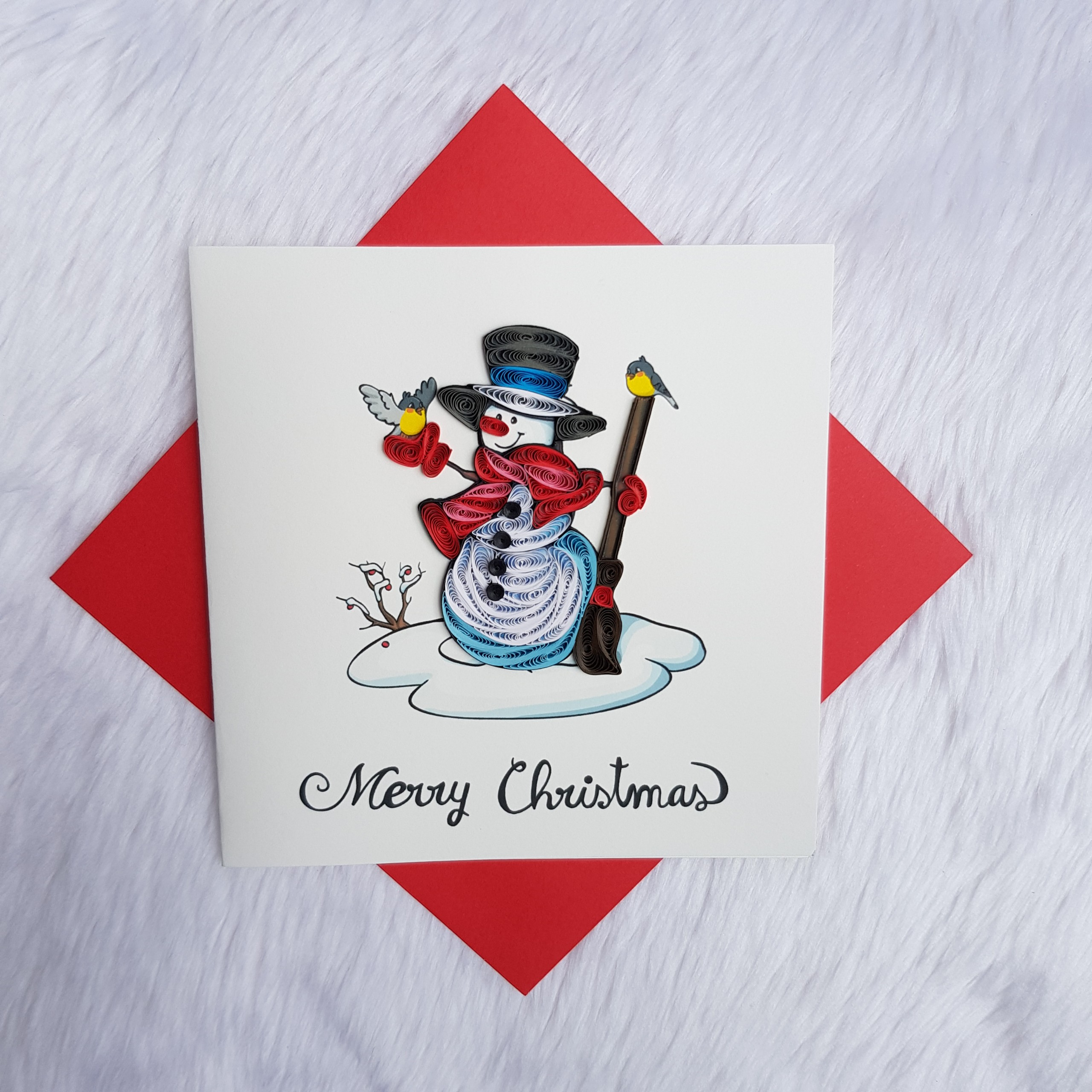 Quilling Christmas Card 01