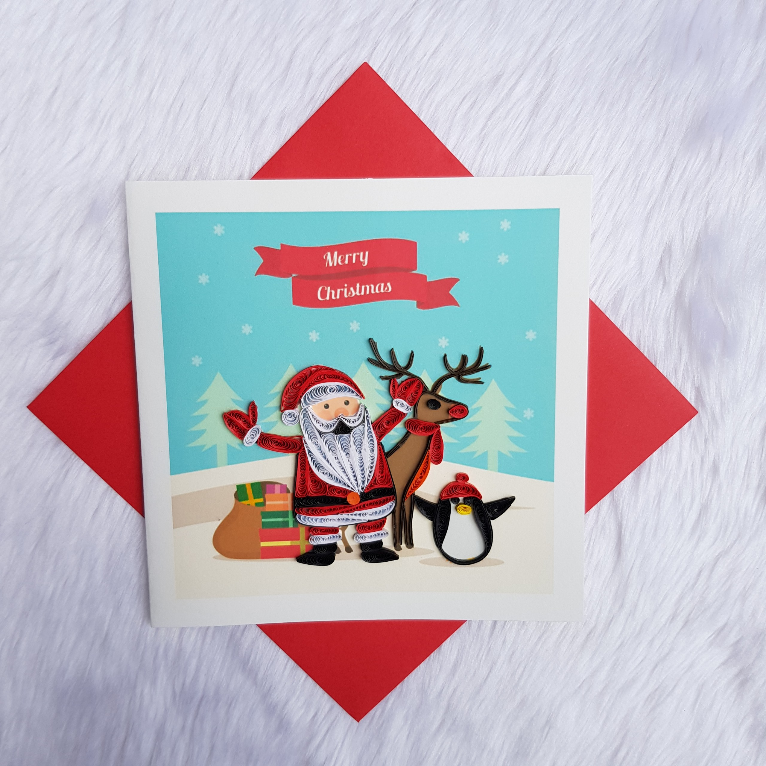 Quilling Christmas Card 02