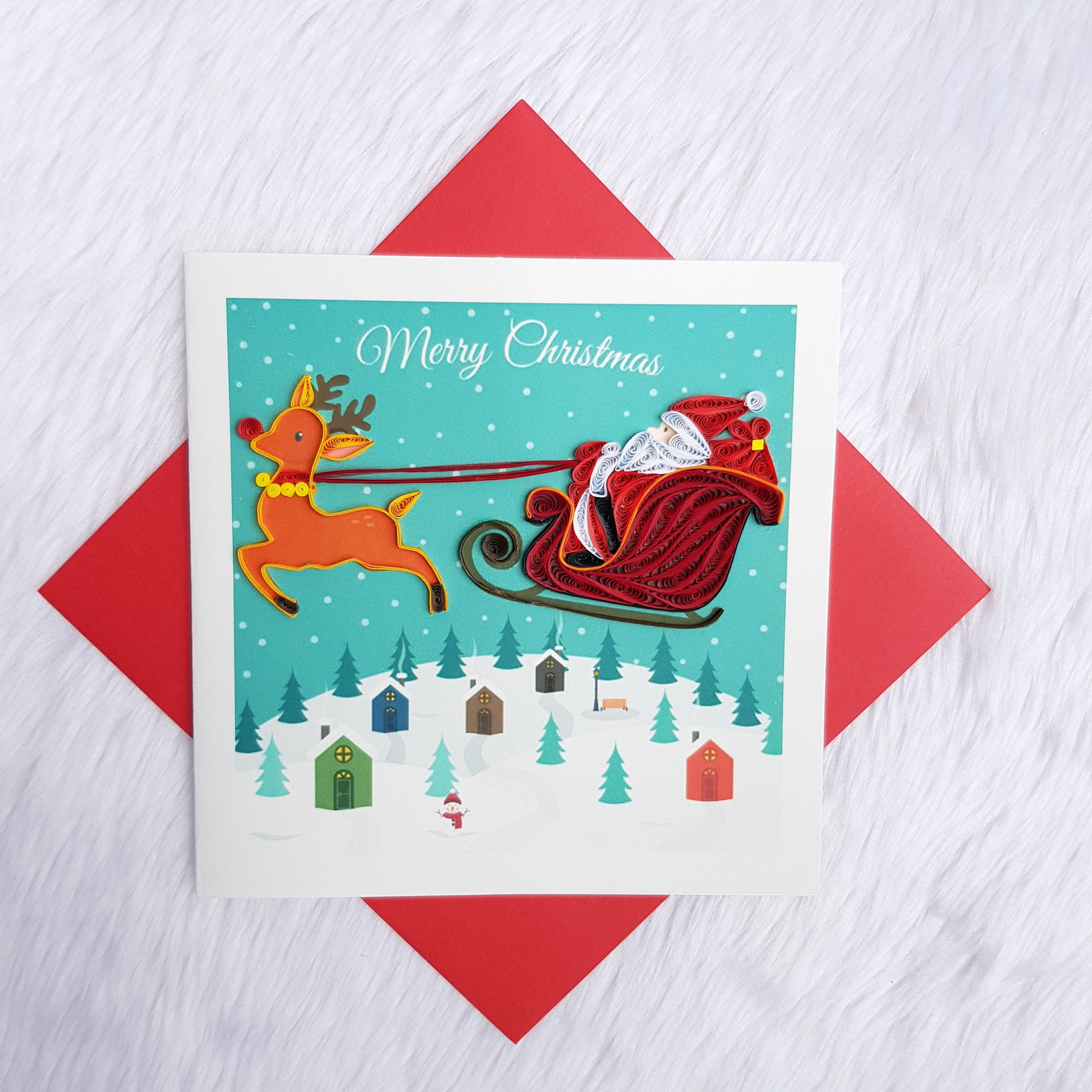 Quilling Christmas Card 04
