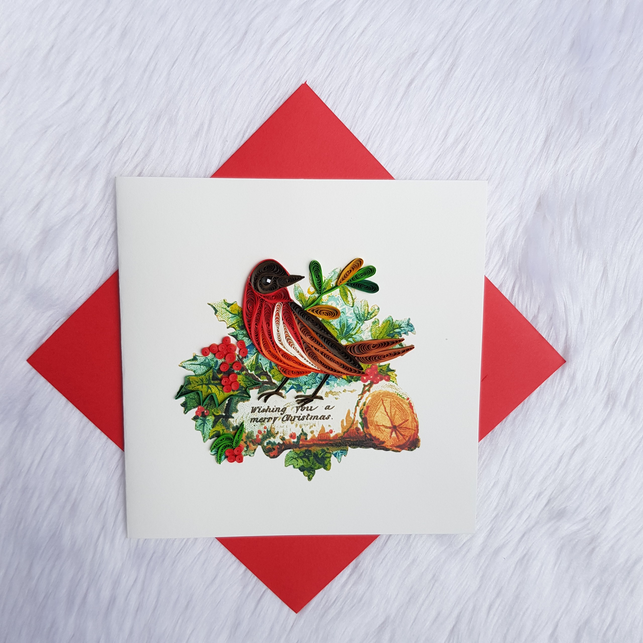 Quilling Christmas Card 05